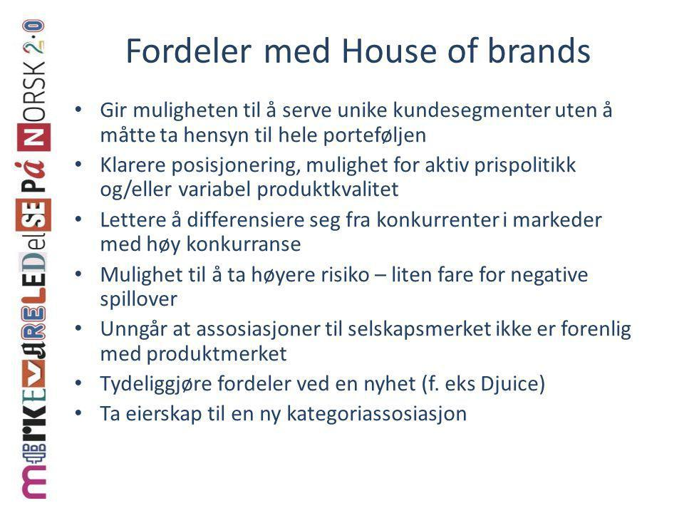 Fordeler med House of brands
