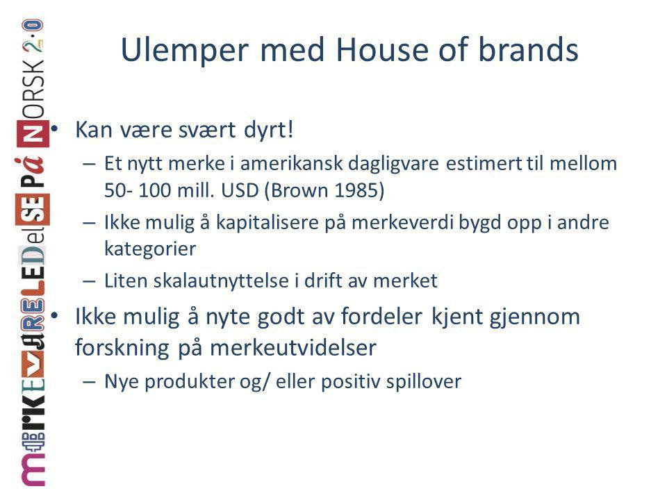 Ulemper med House of brands
