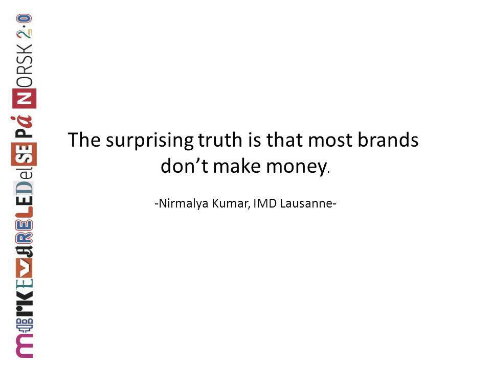 The surprising truth is that most brands don't make money.