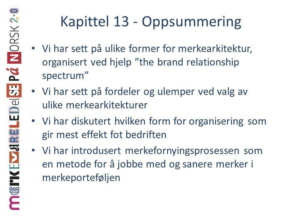 Kapittel 13 - Oppsummering