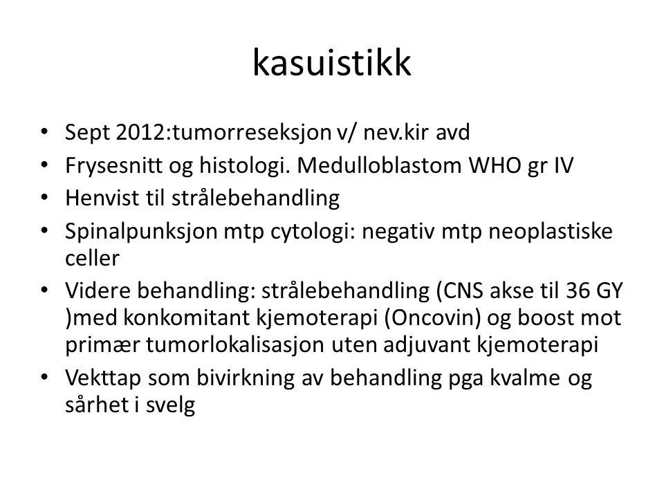 kasuistikk Sept 2012:tumorreseksjon v/ nev.kir avd