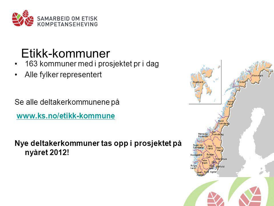Etikk-kommuner 163 kommuner med i prosjektet pr i dag