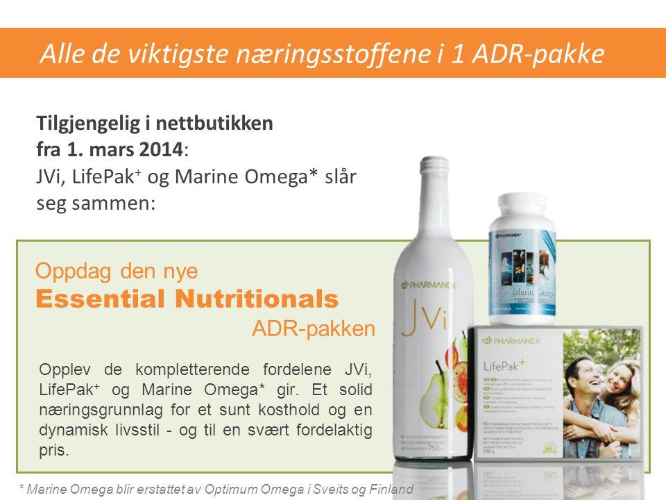Alle de viktigste næringsstoffene i 1 ADR-pakke