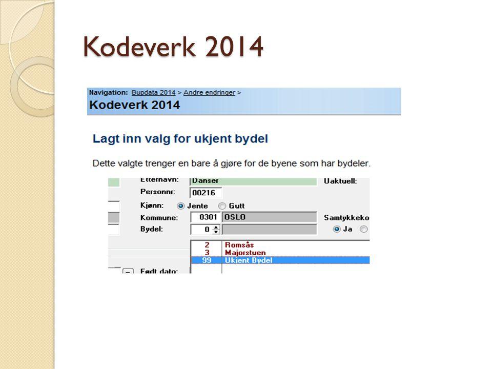 Kodeverk 2014