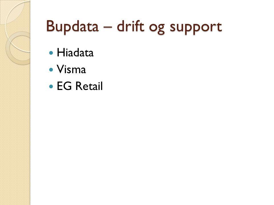 Bupdata – drift og support