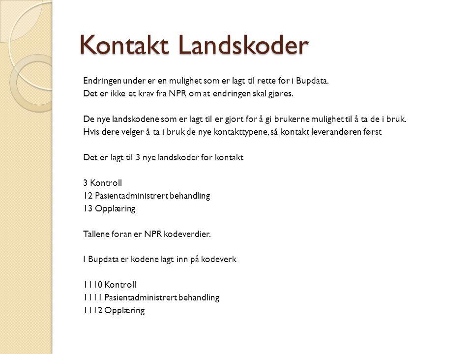 Kontakt Landskoder