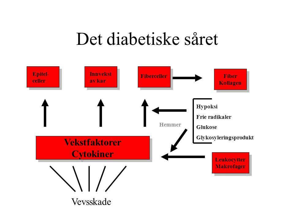 Det diabetiske såret Vekstfaktorer Cytokiner Vevsskade Epitel-celler