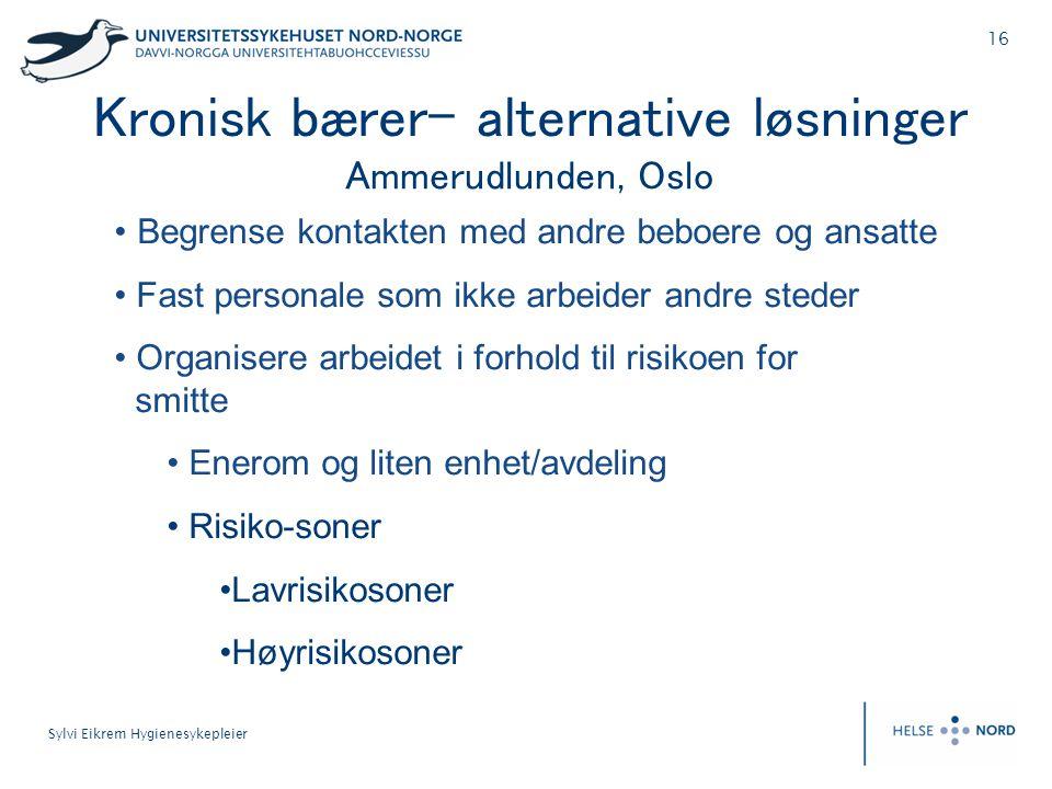 Kronisk bærer- alternative løsninger Ammerudlunden, Oslo