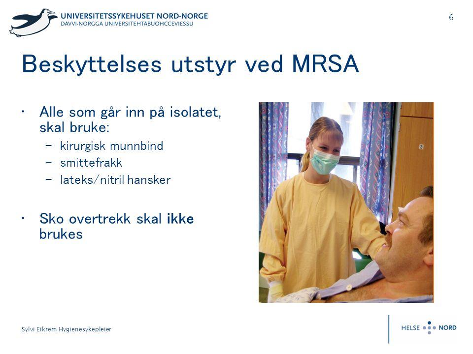 Beskyttelses utstyr ved MRSA