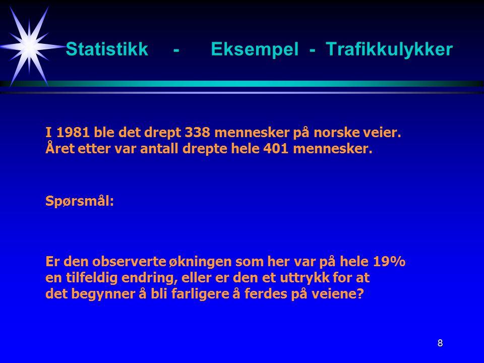 Statistikk - Eksempel - Trafikkulykker