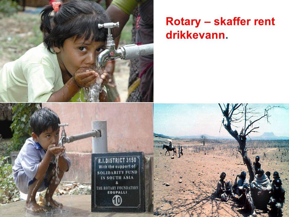 Rotary – skaffer rent drikkevann.