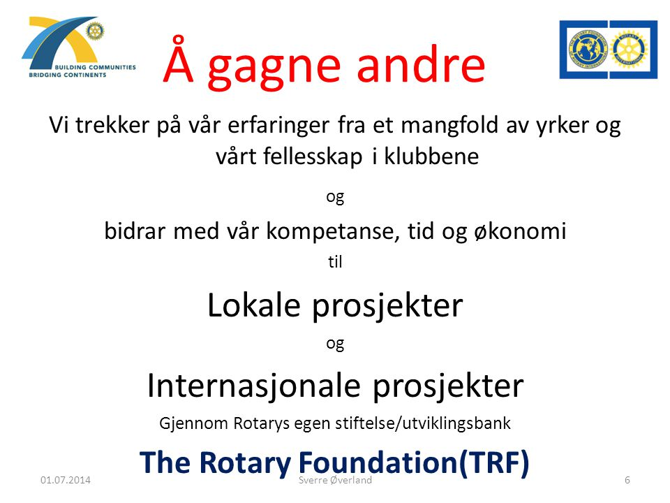 The Rotary Foundation(TRF)