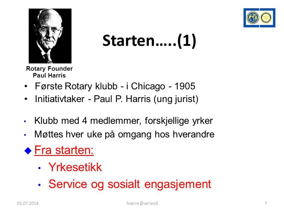 Starten…..(1) Fra starten: Yrkesetikk Service og sosialt engasjement