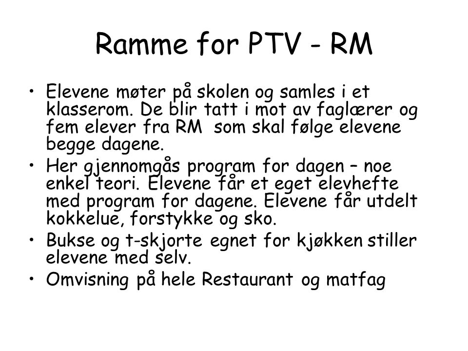 Ramme for PTV - RM