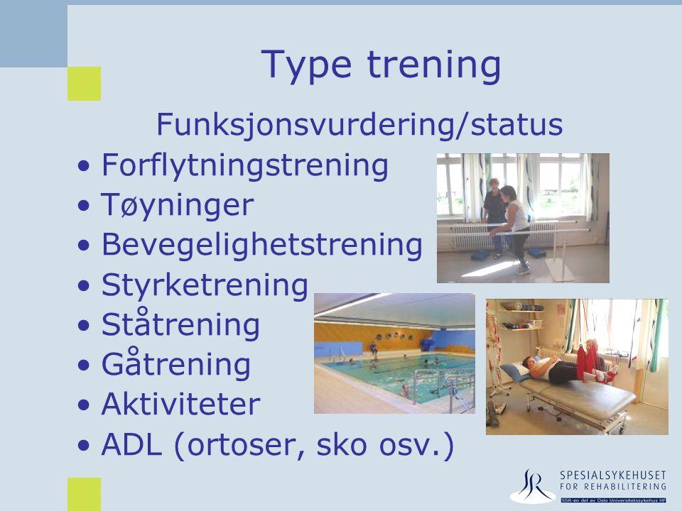 Funksjonsvurdering/status