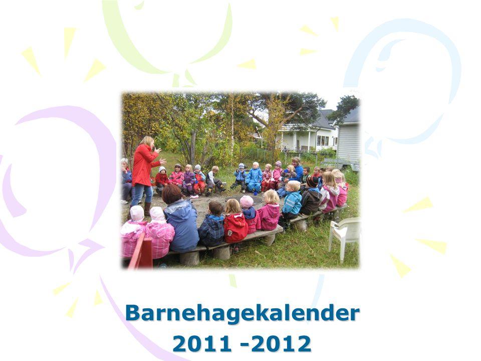 Barnehagekalender 2011 -2012