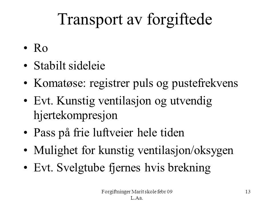 Transport av forgiftede