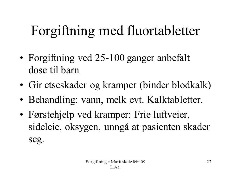 Forgiftning med fluortabletter