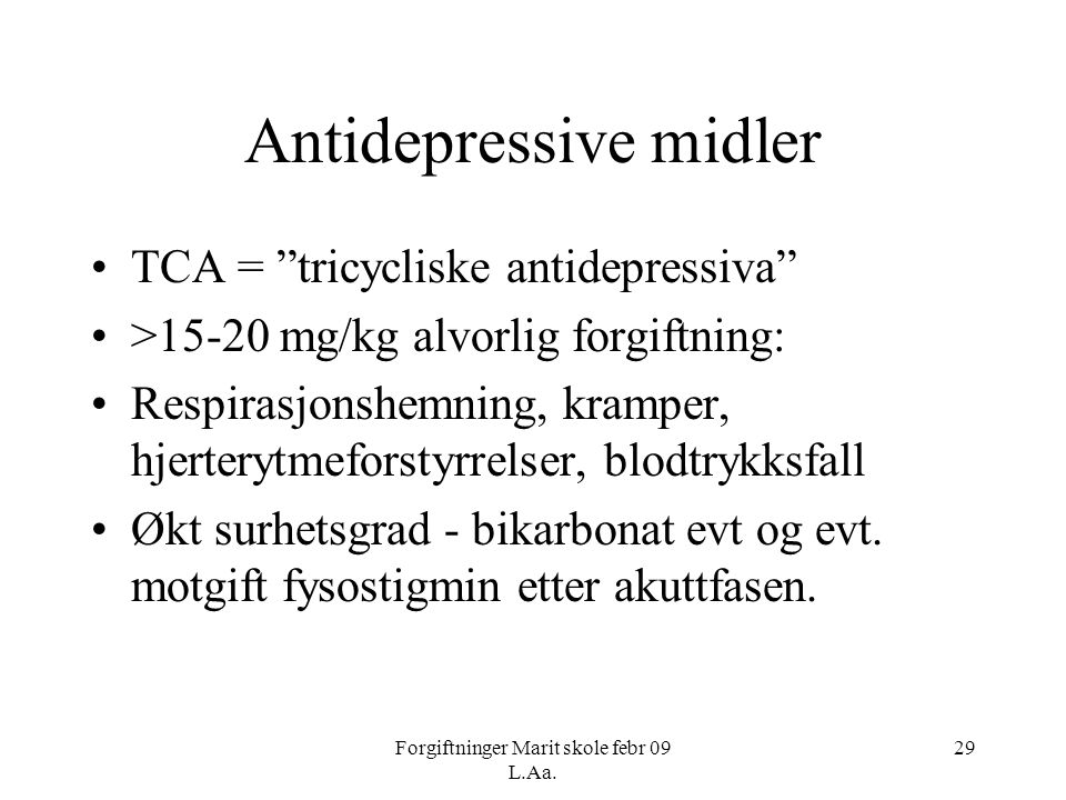 Antidepressive midler