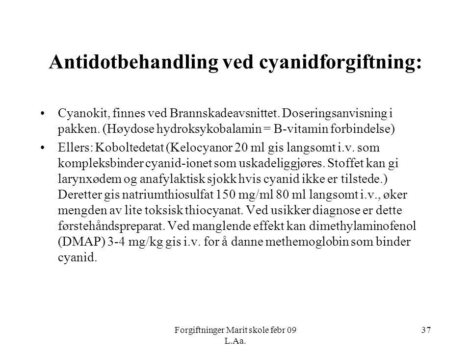 Antidotbehandling ved cyanidforgiftning: