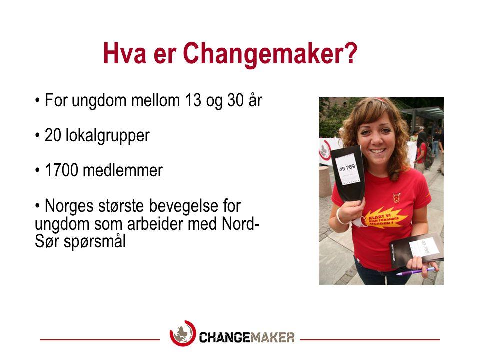 Hva er Changemaker For ungdom mellom 13 og 30 år 20 lokalgrupper