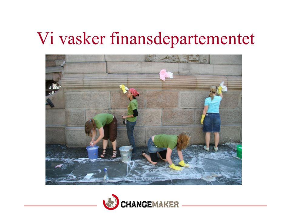 Vi vasker finansdepartementet