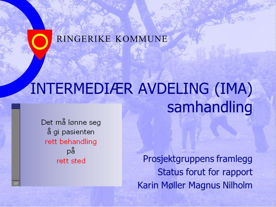 INTERMEDIÆR AVDELING (IMA) samhandling