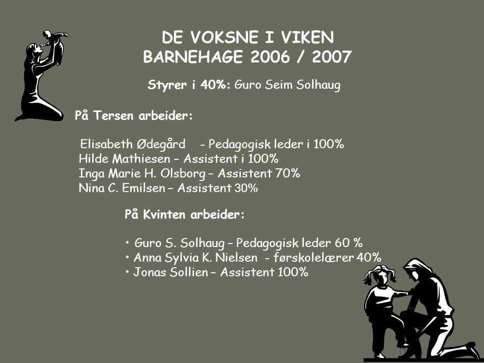 DE VOKSNE I VIKEN BARNEHAGE 2006 / 2007