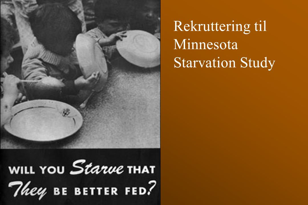 Rekruttering til Minnesota Starvation Study