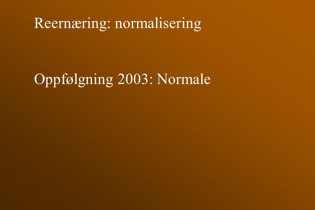 Reernæring: normalisering