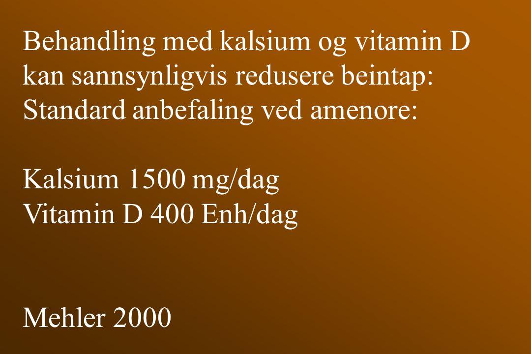 Behandling med kalsium og vitamin D