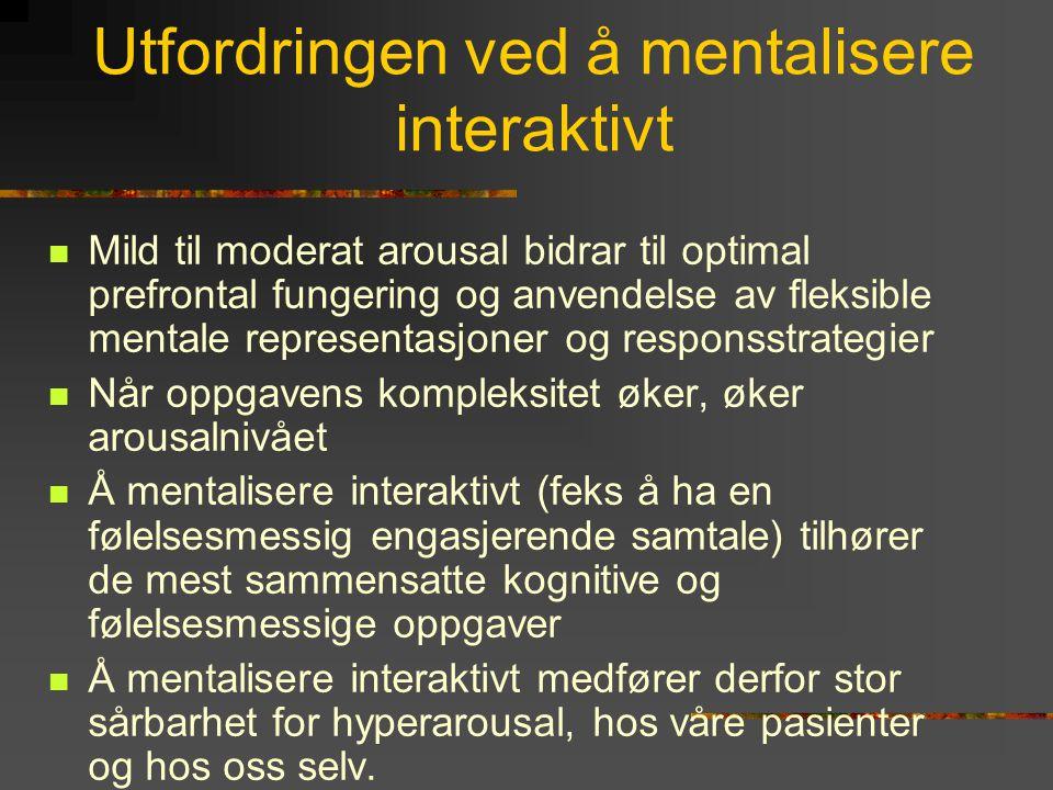 Utfordringen ved å mentalisere interaktivt