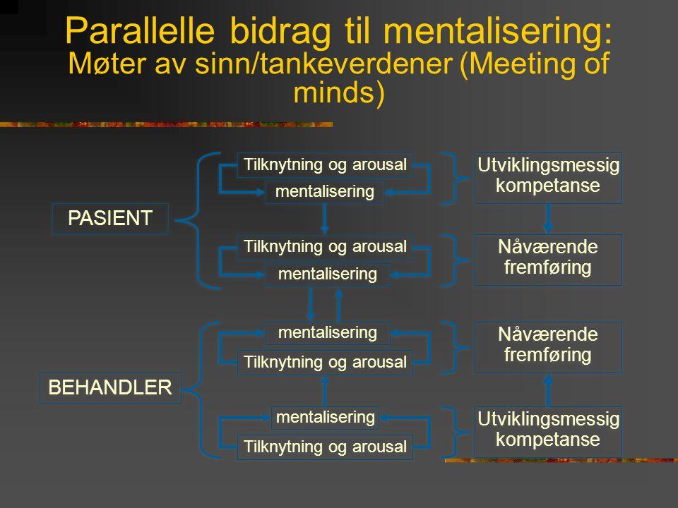 Parallelle bidrag til mentalisering: Møter av sinn/tankeverdener (Meeting of minds)