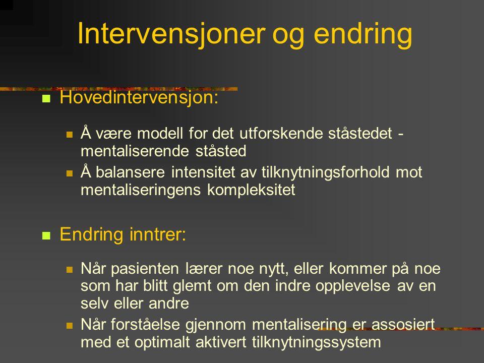 Intervensjoner og endring