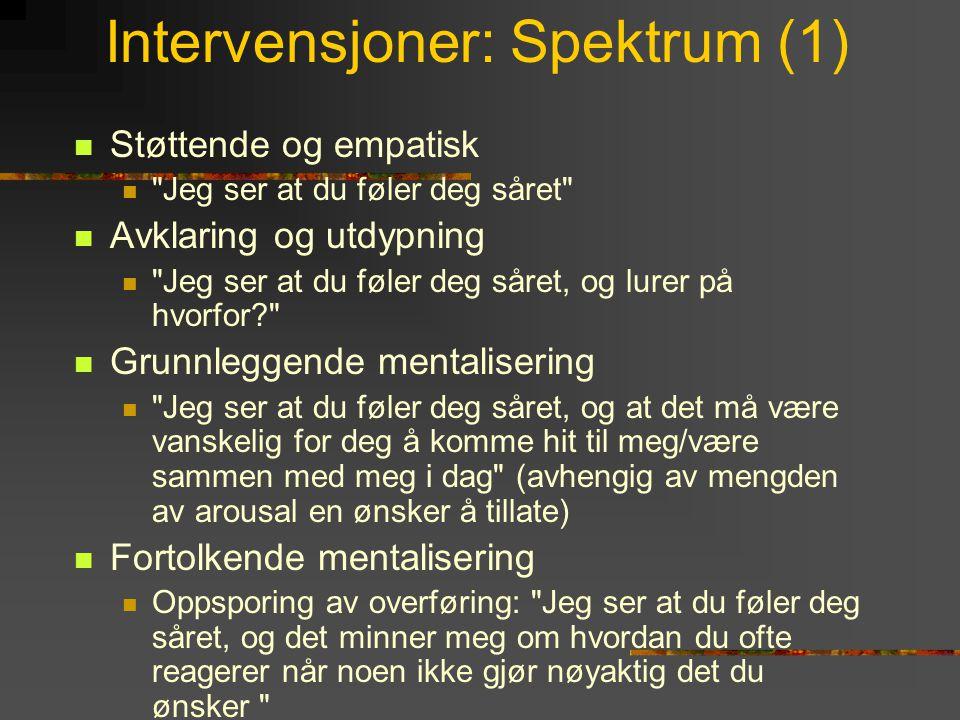 Intervensjoner: Spektrum (1)