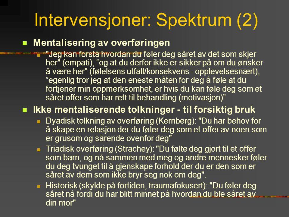 Intervensjoner: Spektrum (2)
