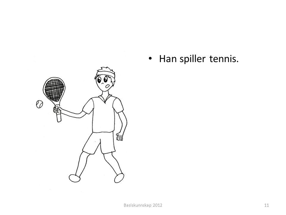 Han spiller tennis. Basiskunnskap 2012