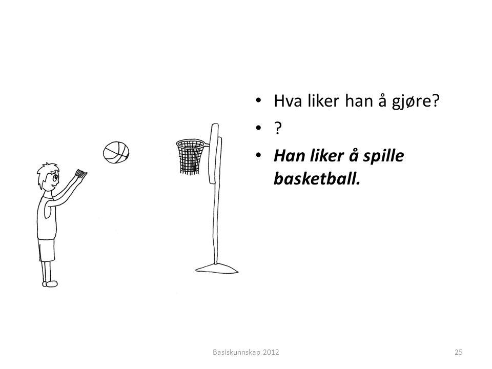 Han liker å spille basketball.