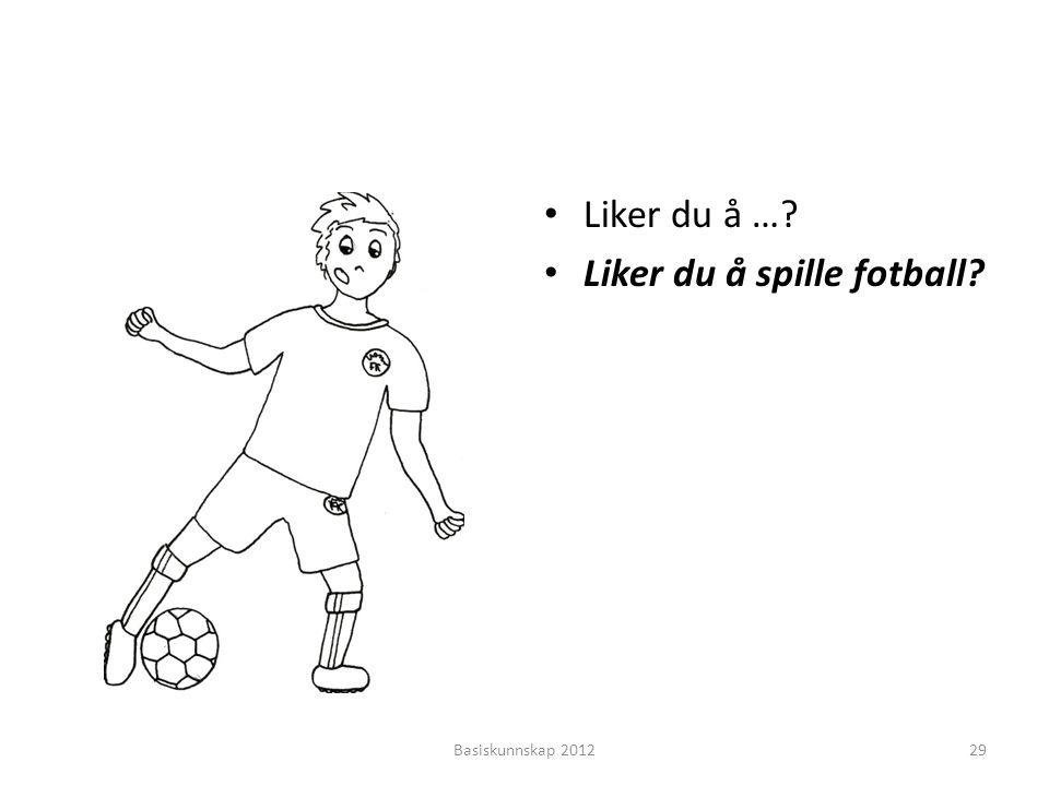 Liker du å spille fotball