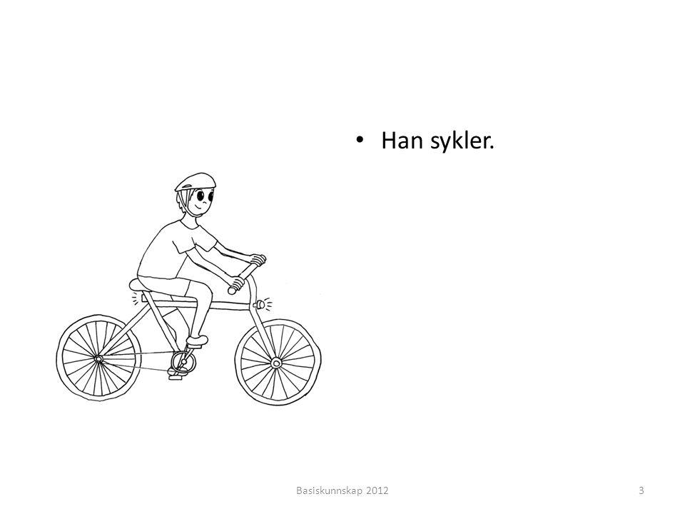 Han sykler. Basiskunnskap 2012