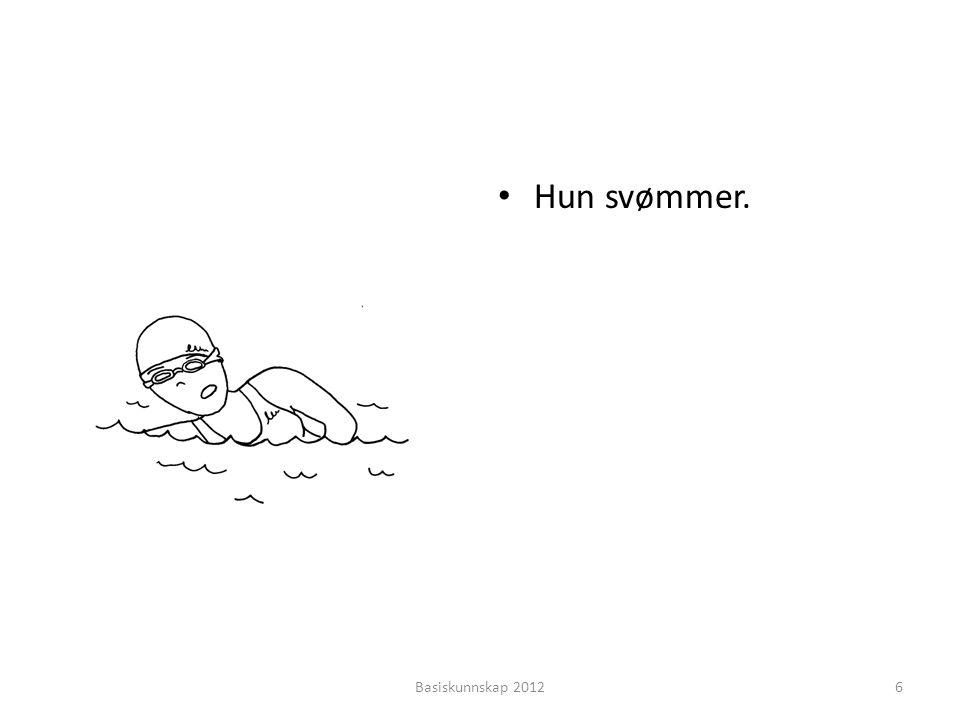 Hun svømmer. Basiskunnskap 2012