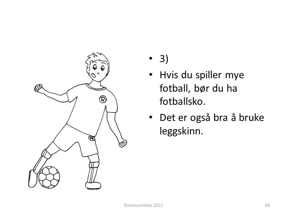 Hvis du spiller mye fotball, bør du ha fotballsko.