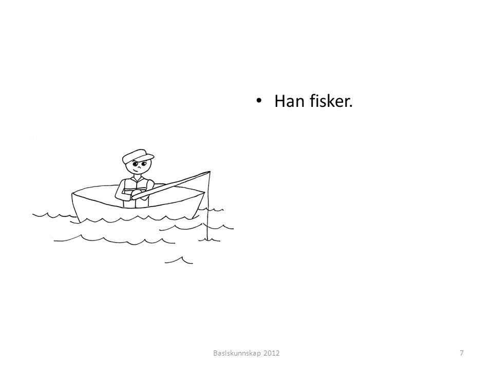 Han fisker. Basiskunnskap 2012