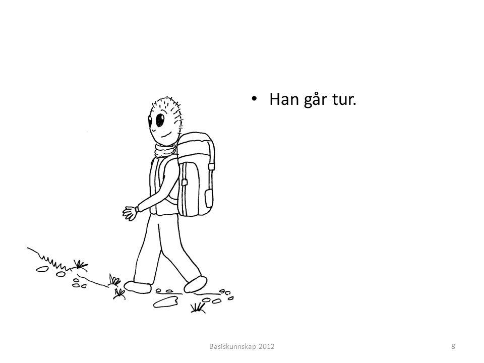 Han går tur. Basiskunnskap 2012