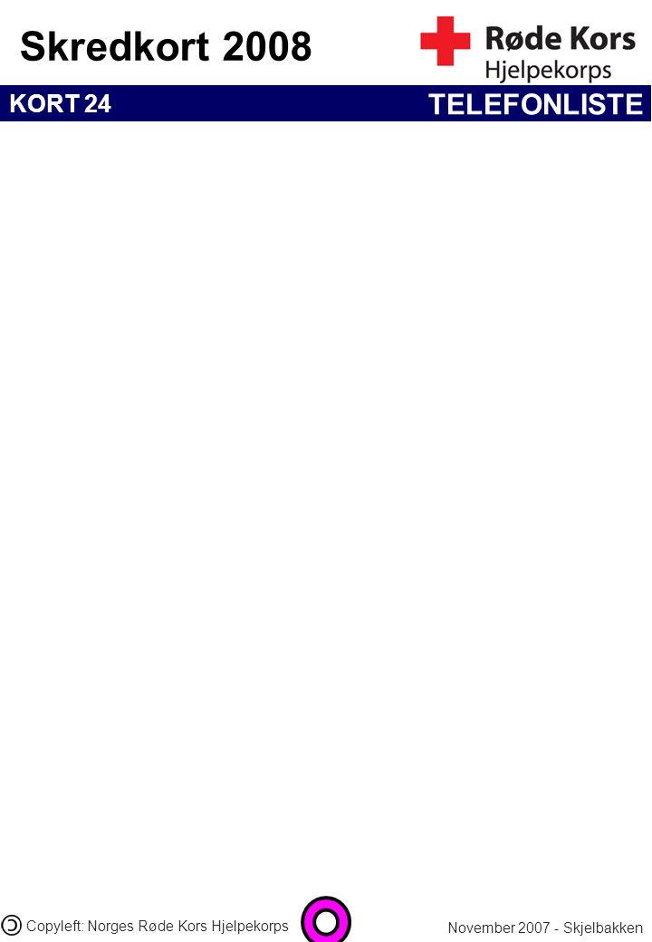TELEFONLISTE 03.04.2017 21:25 Copyleft: Norges Røde Kors Hjelpekorps