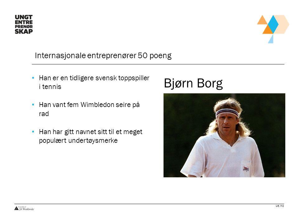 Bjørn Borg Internasjonale entreprenører 50 poeng