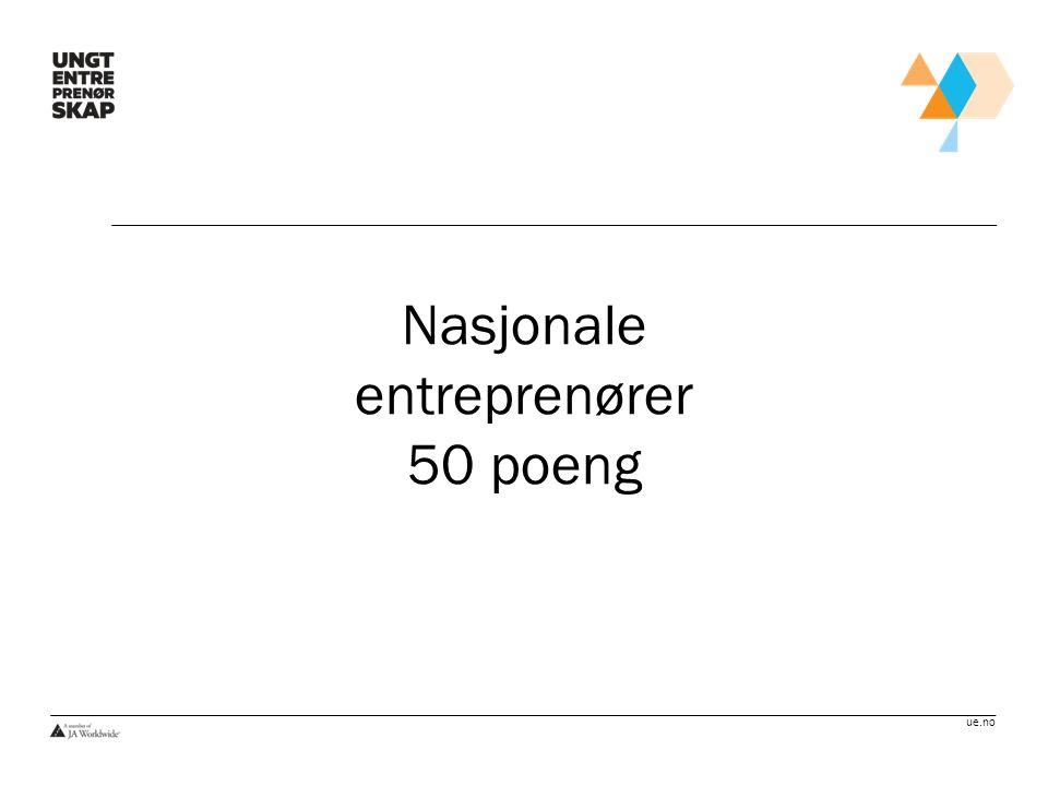 Nasjonale entreprenører 50 poeng