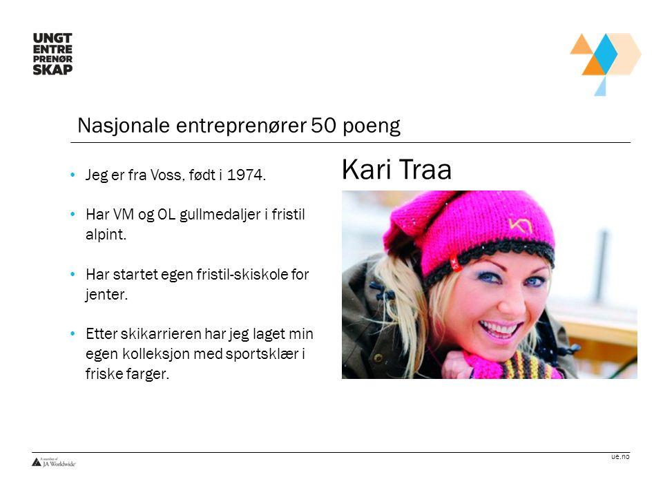 Kari Traa Nasjonale entreprenører 50 poeng