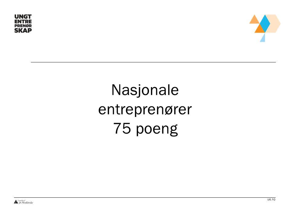 Nasjonale entreprenører 75 poeng