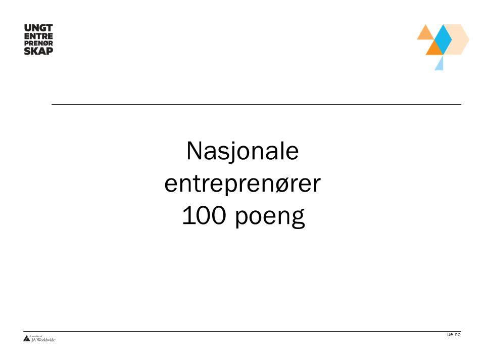 Nasjonale entreprenører 100 poeng